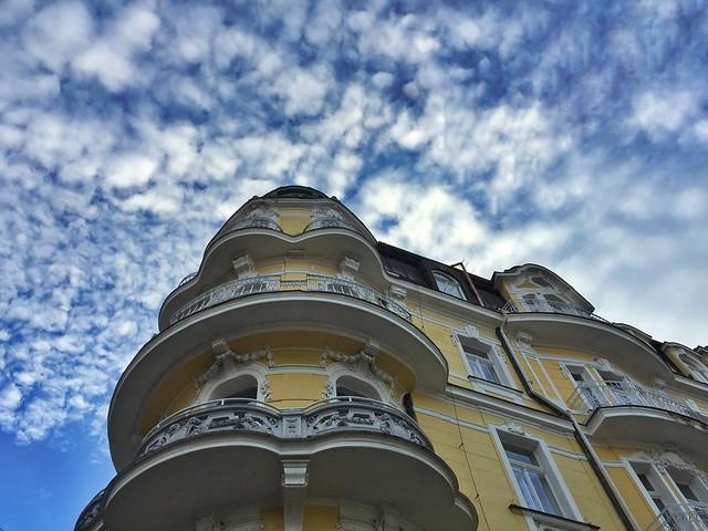 Edificio en Mariánské Lazne (Una de las ciudades-balnearios en República Checa más importantes)