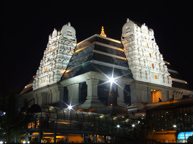 Iskcon Temple In Bangalore At Night A Beautiful Hare Krish Flickr