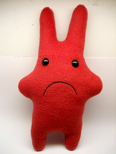 large sad red fleece poofy | by roboppy
