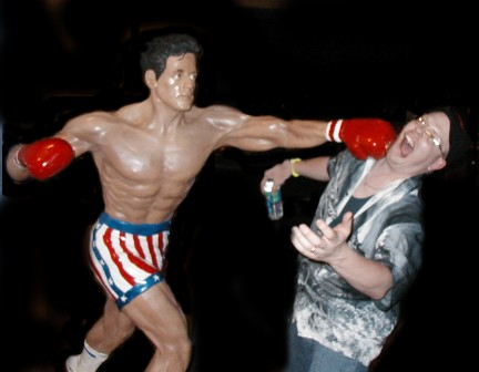 Rocky Balboa Vs Kevin Outside Of Planet Hollywood In