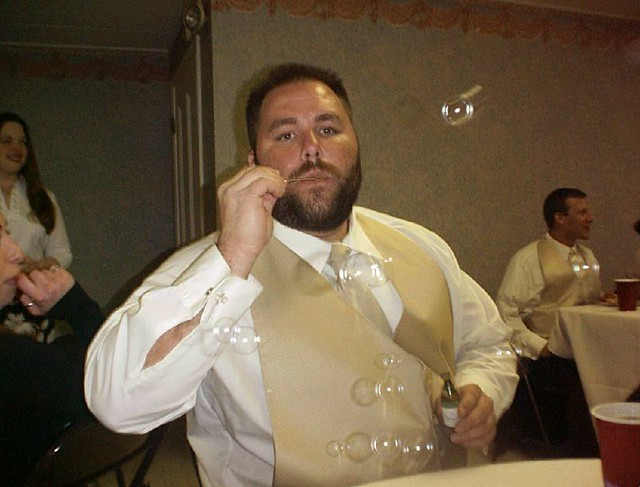 Bubbles me at andy branner s wedding jess johnson flickr