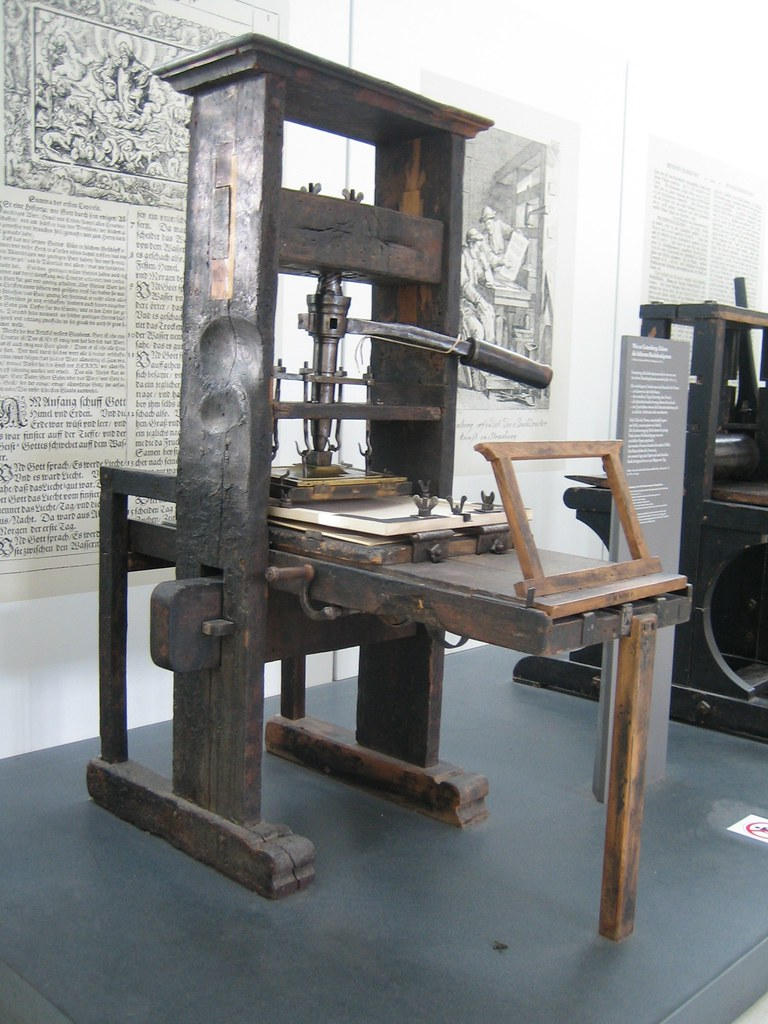 Gutenberg press 3 accompanying description for Who invented the 3d printer
