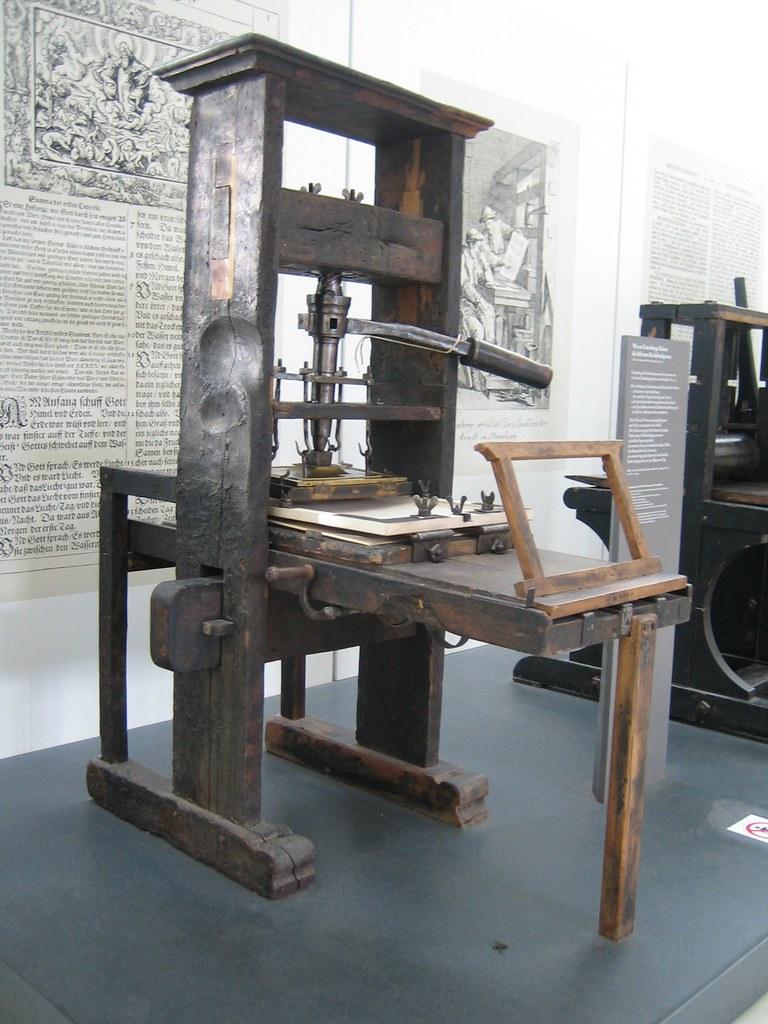 Original Gutenberg Printing Press Gutenberg Press...