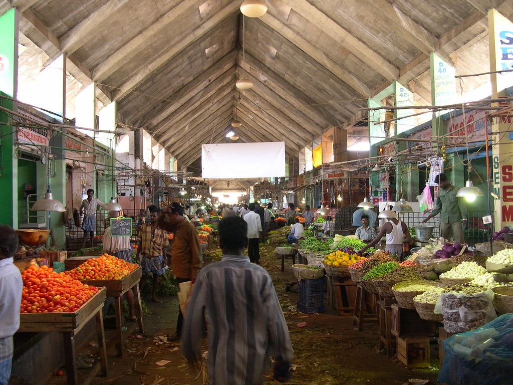 koyambedu a section of the vegetable market in koyambedu flickr. Black Bedroom Furniture Sets. Home Design Ideas