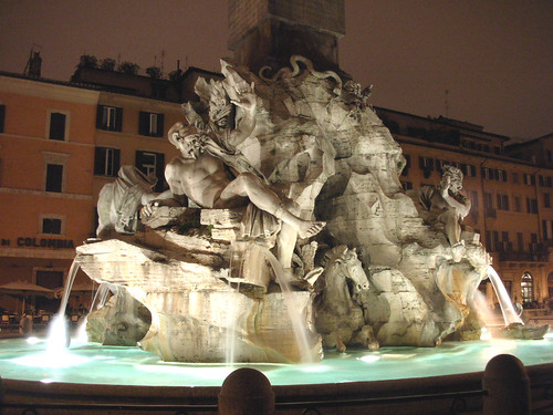 Bernini's Four Rivers Fountain at Night | Dale East | Flickr