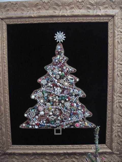 Jewelry Christmas Tree My Mom Made This Of Old Costume Jew Flickr
