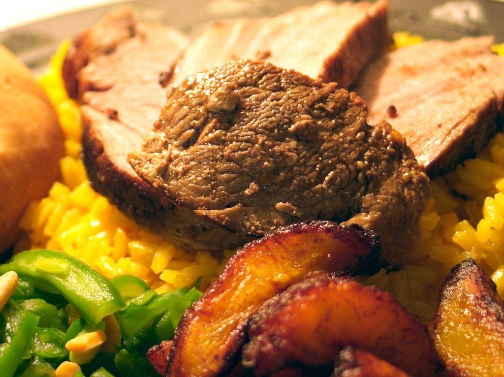 Pork & Plantains, 1 | Pork tenderloin rubbed with a brown su ...