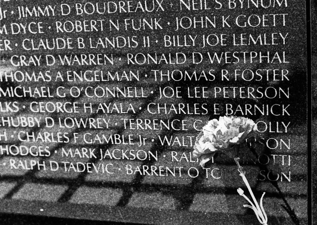 Vietnam War Memorial Names I Ve Never Been One For War