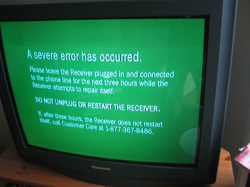 Image result for green screen of death TiVo