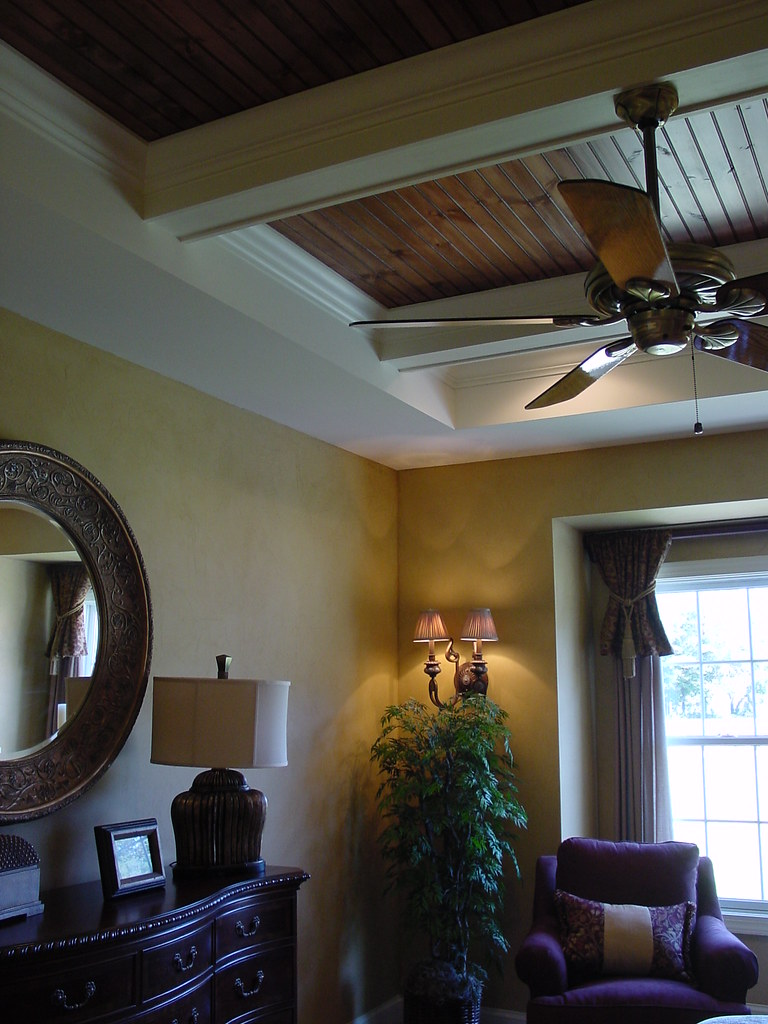 faux leather walls and custom tray ceiling doherty painting flickr. Black Bedroom Furniture Sets. Home Design Ideas