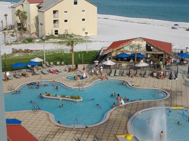 ... Pool At Hilton Garden Inn, Pensacola Beach FL | By Deep Fried Kudzu Design Ideas