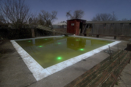 Swimming Pool Reactor Glow Sticks In The Wading Pool