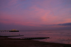 worthing pier vs the pink skies | by groc