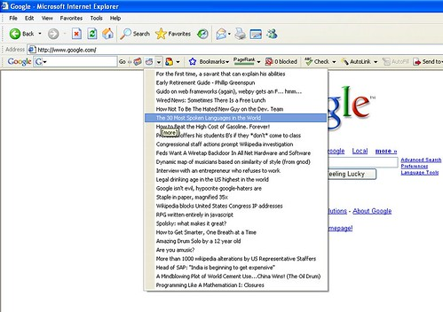 reddit on Google Toolbar | by kn0thing