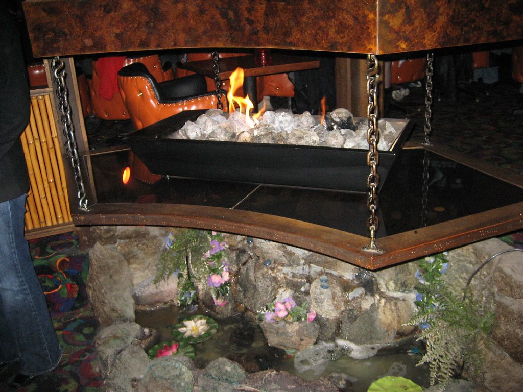 Tiki Fireplace 360 Degree Fireplace With Waterfall