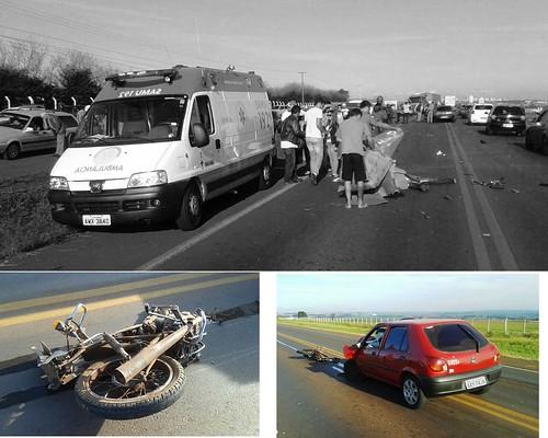 acidente carro moto