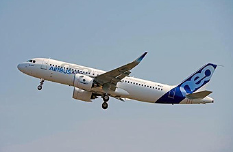 A320neo first flight (Airbus)