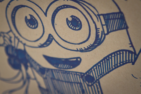 minion bob gift wrap close up