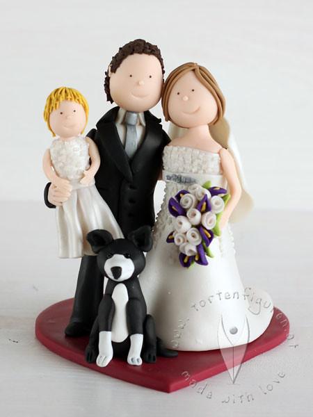 Personalisierte Hochzeitstortenfigur Mit Kind Familien B Flickr