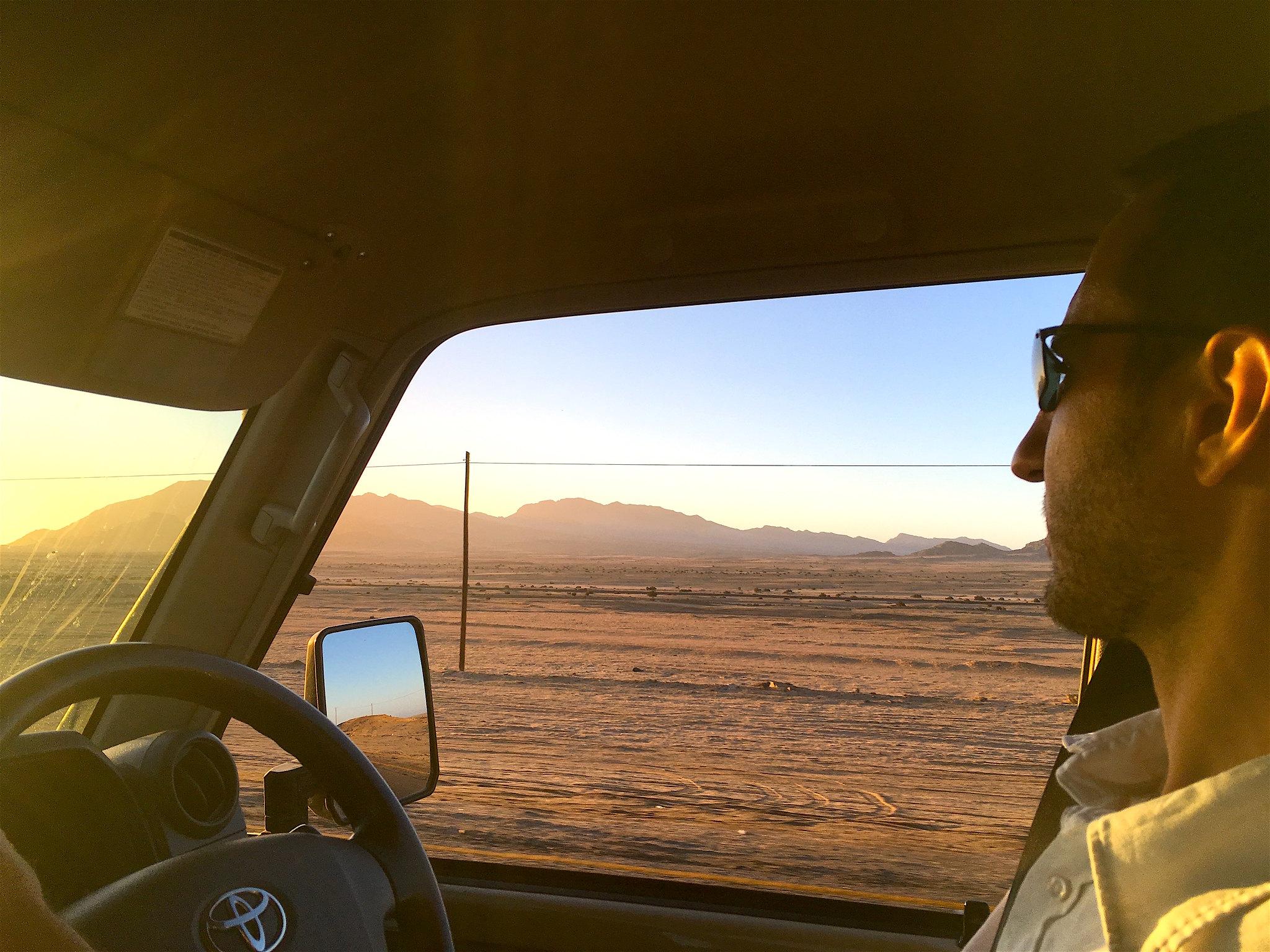 Llegando a Swakopmund
