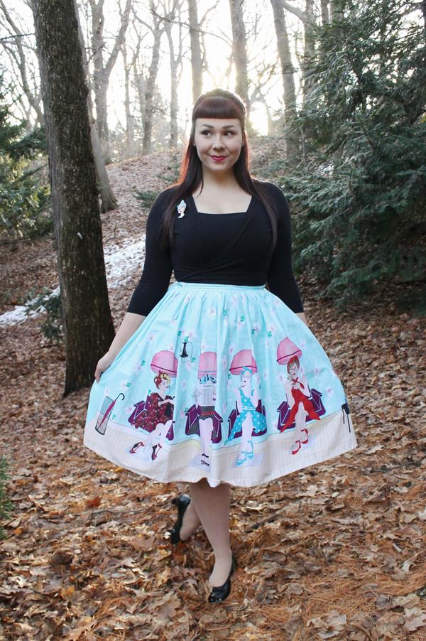 unique vintage novelty swing skirt