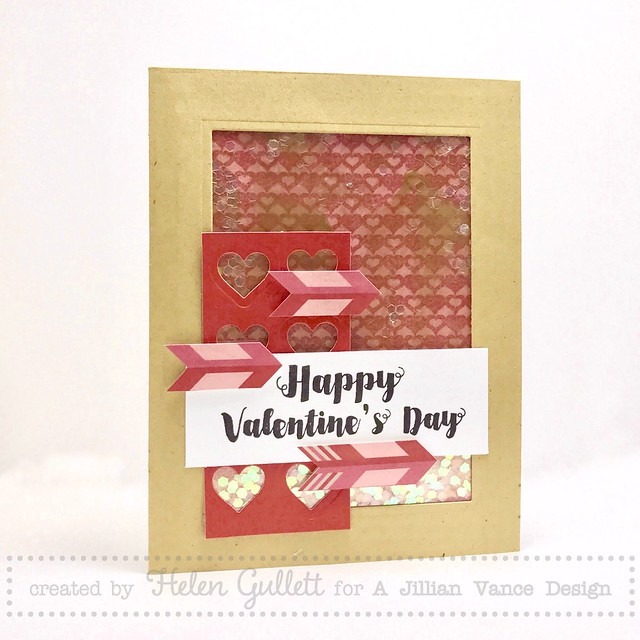 AJVD - Happy Valentine's Day No-Bulky Shaker Card