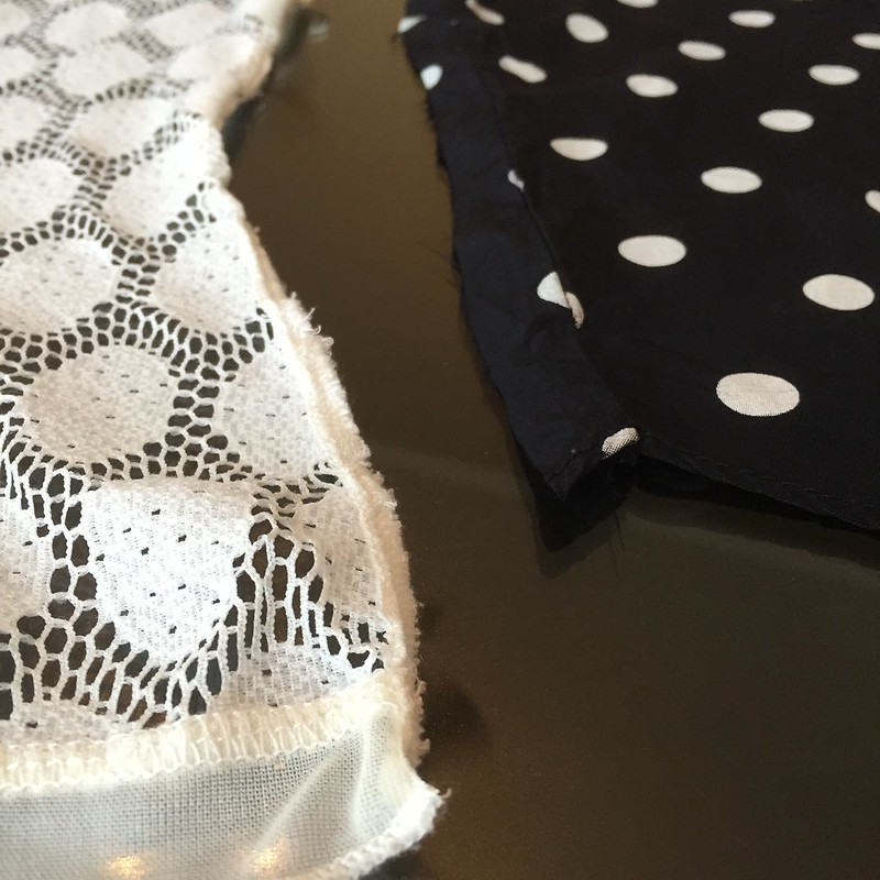 Black & White & Lace Tank - In Progress