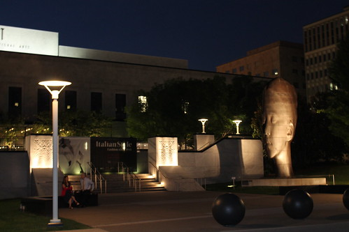 The Frist Center at night