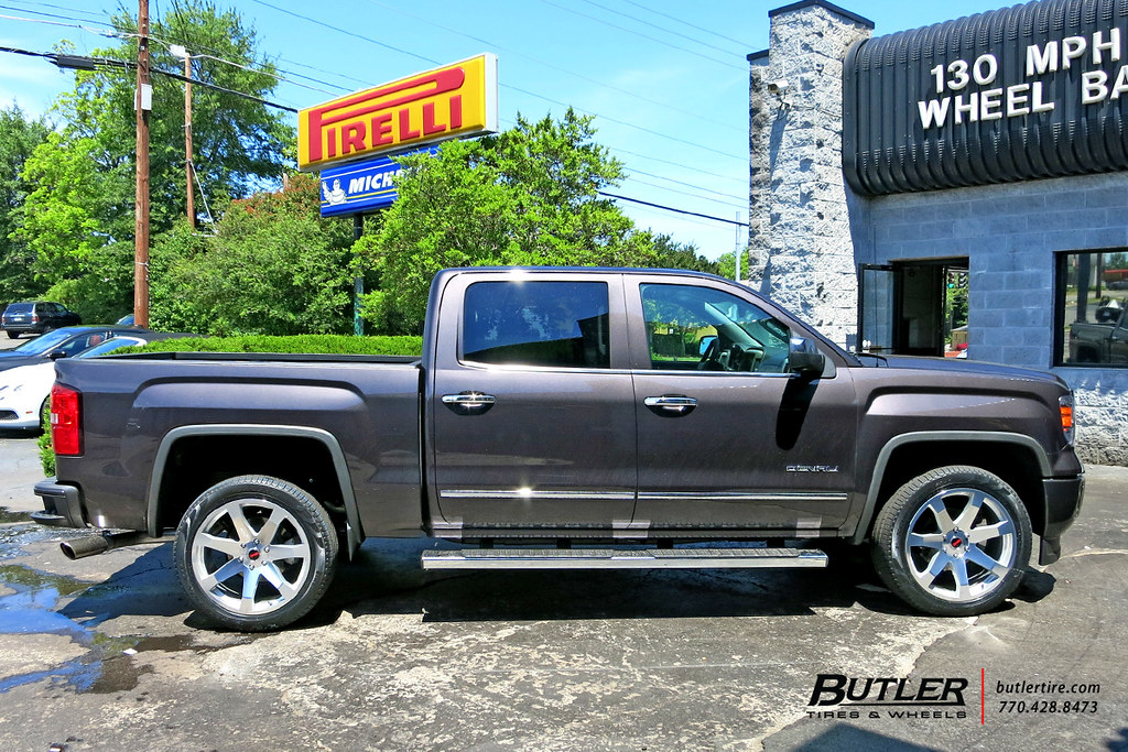 White Tire Paint >> GMC Sierra with 22in Black Rhino Mozambique Wheels | Flickr