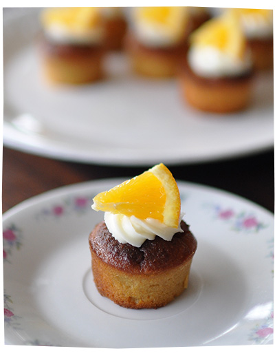 Mini Orange and Almond Cupcakes