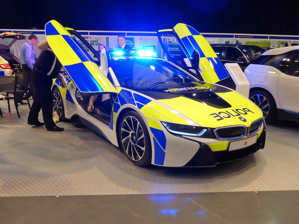 Bmw I8 Bmw I8 Police Demonstrator Hyperceptor Blue And