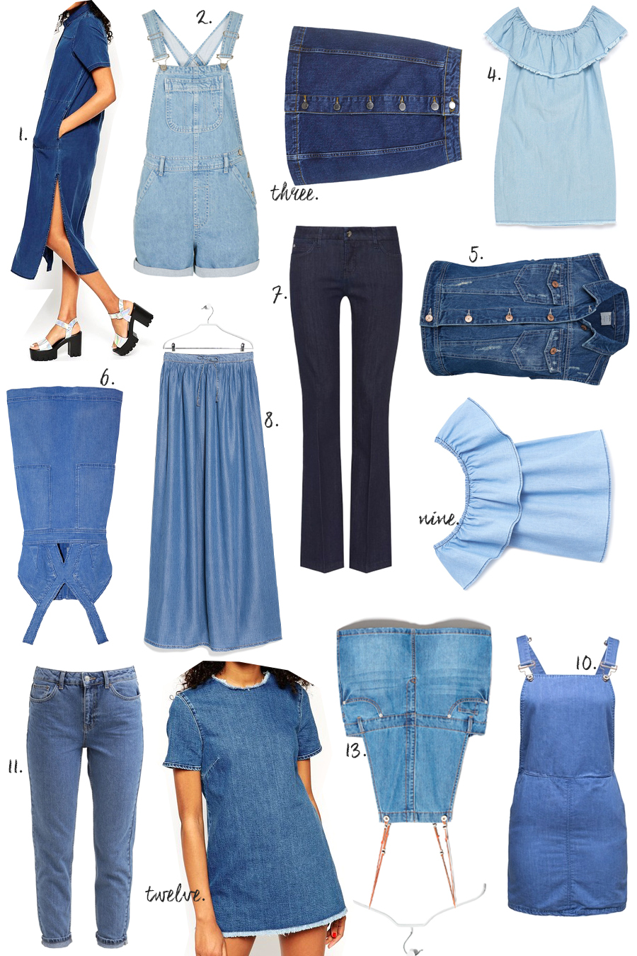 SGG jeans collage