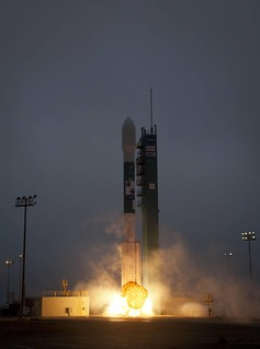 Aquarius Mission Liftoff | A Delta II rocket launches from ...
