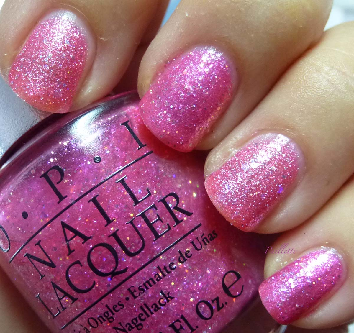 Opi Pink Shimmer Nail Polish: Paillette: A Little Nail Polish Journal: Pink Glitter