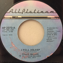 CHUCK JACKSON:I FELL ASLEEP(LABEL SIDE-A)