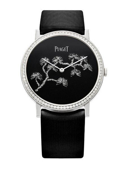 Piaget Altiplano of precious metal thread embroidery watches