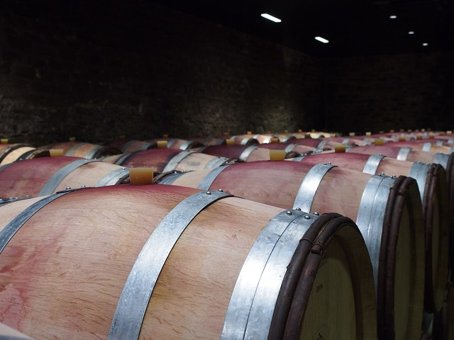 Château de Santenay wine barrels