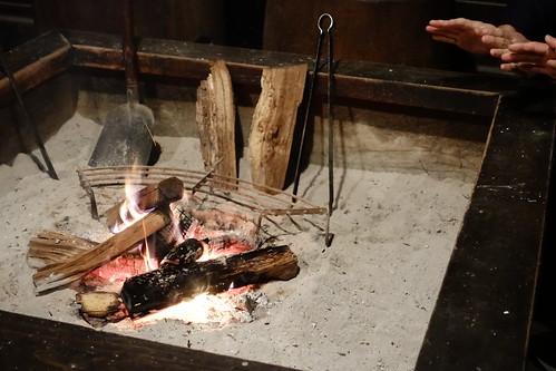 昔のあかり体験 炉焚き
