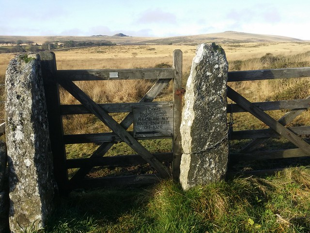 The old Lich Way gate before the diversion