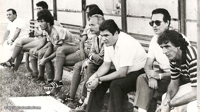 Bruno Pace ed Angelo Attaguile sulla panchina etnea