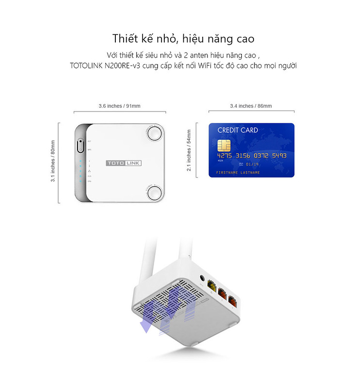 Bộ Phát WiFi Router WiFi TOTOLINK N300RT | Laptop Deal