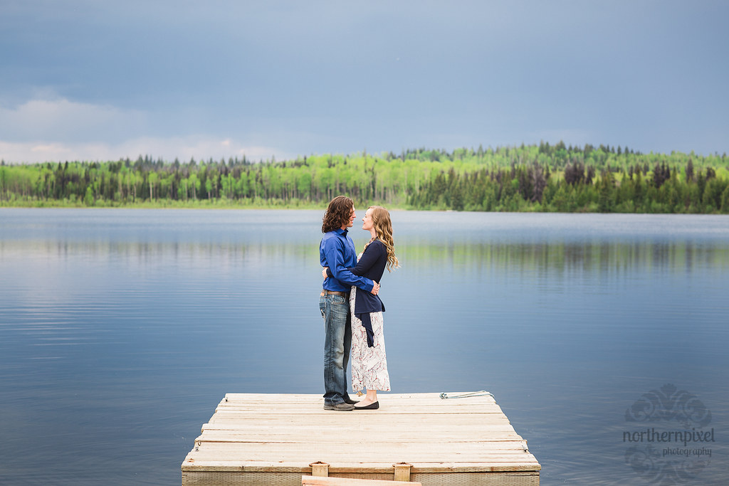 Lakeside Engagement Session - Prince George British Columbia Photographer