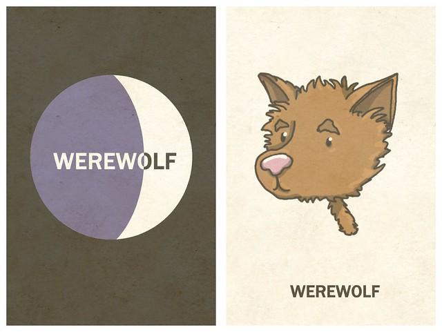 ILLUSTRATED | Werewolf Card Game - Imagination Sprinkles - http://www.imaginationsprinkles.com/illustration/illustrated-werewolf-card-game/