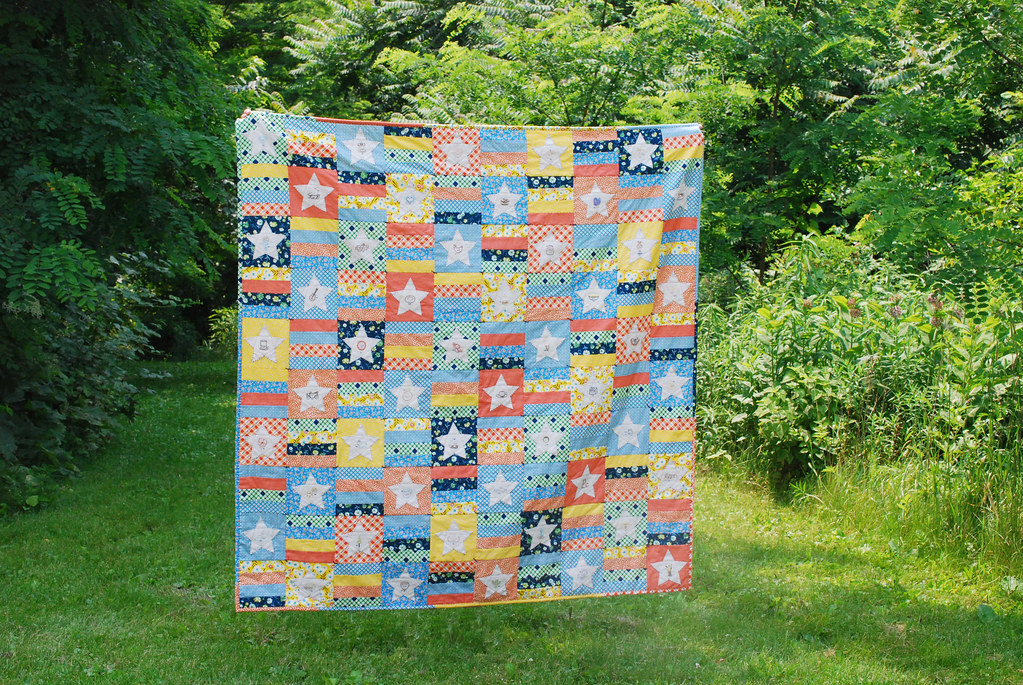 50 States Stitching Club // finished quilt