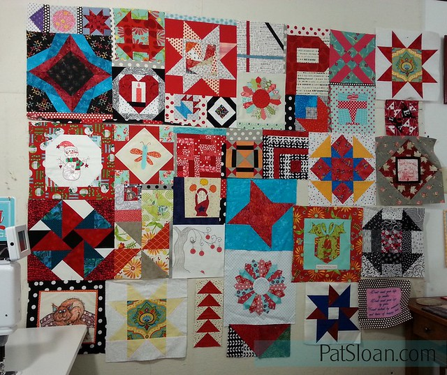 pat sloan birthday block quilt back making2