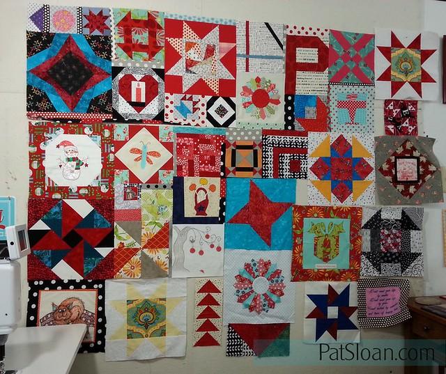 pat sloan birthday block quilt back making2
