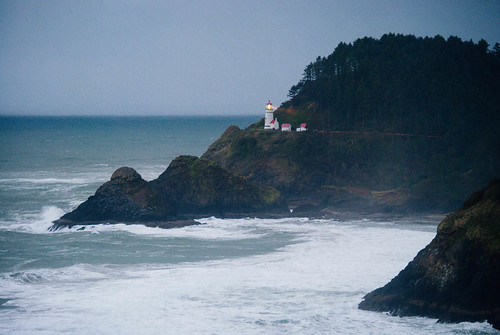 Heceta Head Lighthouse in Fading Light