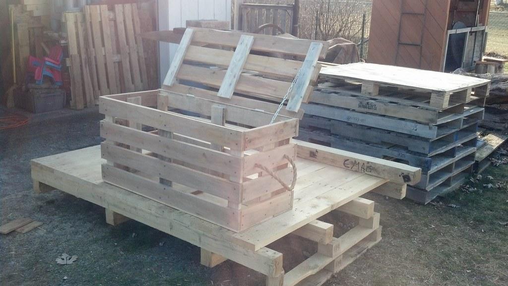 Handy Multipurpose Pallet Bench Storage Chest Www 1001pall