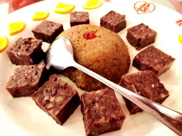 Yam & red bean dessert