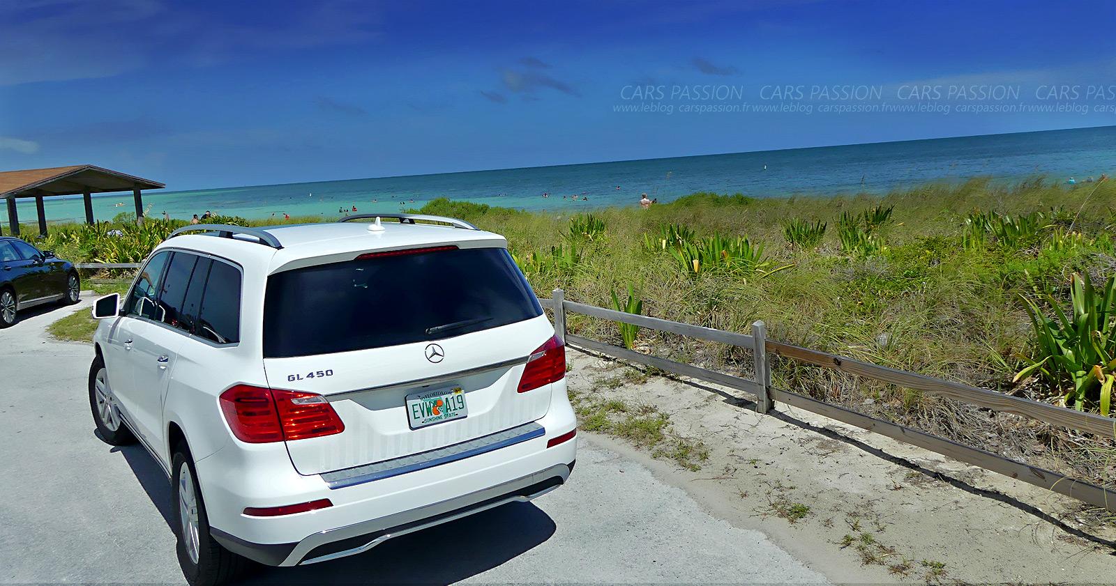 Essai Mercedes GL 450 V8 à Miami (Floride)